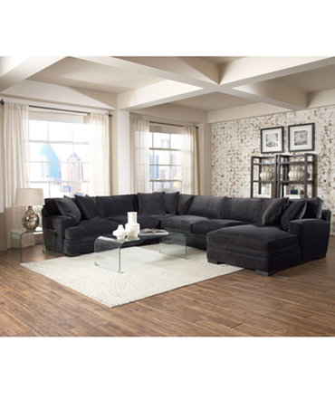 Teddy fabric sectional living room furniture collection furniture macy 39 s - Maximizing design of living room by determining its needs ...