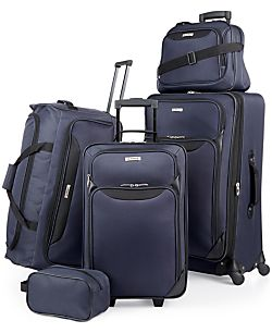 Tag Springfield III 5 Piece Luggage Set (Blue / Red)