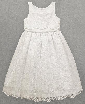 82767bb230c Jayne Copeland Little Girls Lace Overlay Flower Girl Dress Dresses on  PopScreen