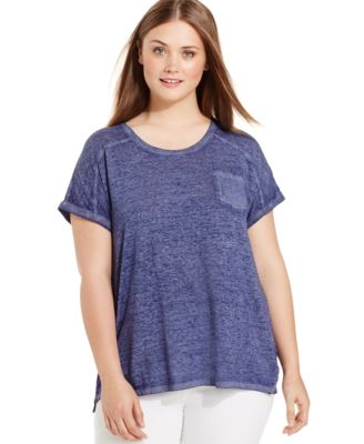 Style & Co. Plus Size Pocket T-Shirt