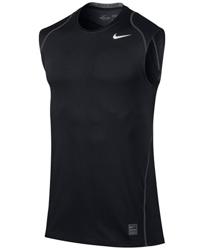 nike men 39 s pro cool dri fit fitted sleeveless shirt t