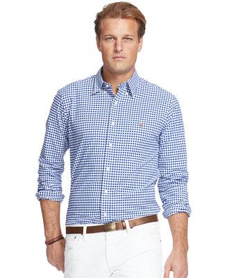 Polo Ralph Lauren Men S Big And Tall Stretch Oxford Shirt