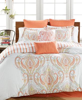 Jordanna Coral 8 Pc Queen Comforter Set Bed In A Bag Bed Bath Macy 39 S