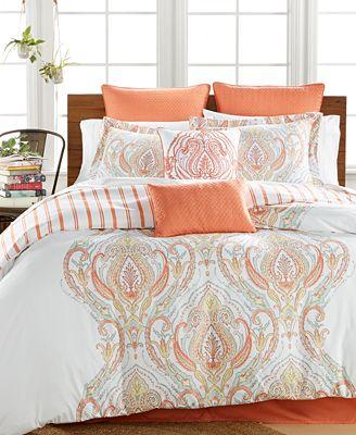 Jordanna Coral 8 Pc Queen Comforter Set Bed In A Bag
