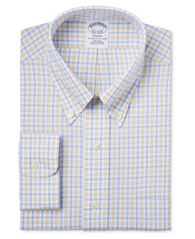 Brooks brothers regent men 39 s classic fit non iron yellow for Brooks brothers non iron shirt review
