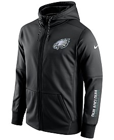 Men's Philadelphia Eagles Cutter & Buck Black Mason Full-Zip WeatherTec Jacket