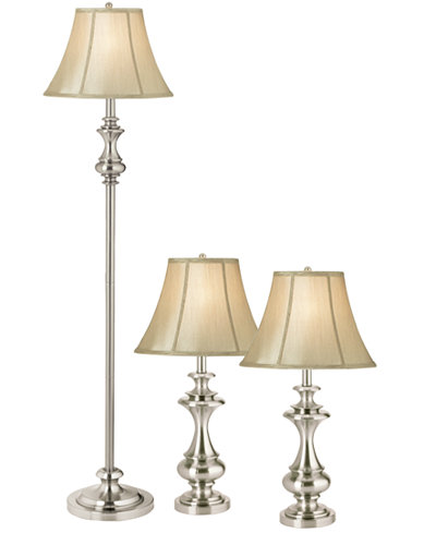 floor lamp and 2 table lamps lighting lamps for the home macy. Black Bedroom Furniture Sets. Home Design Ideas