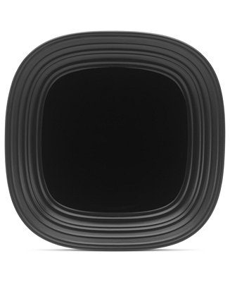 Mikasa Dinnerware Swirl Square Black Dinner Plate