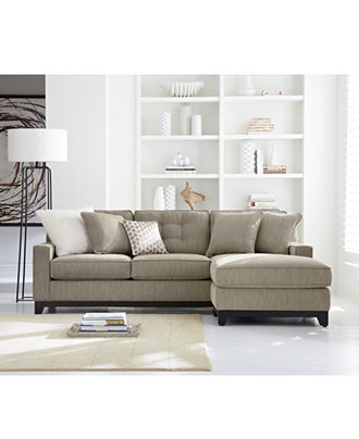 Clarke Fabric Sectional Sofa Living Room Furniture Sets Pieces Only At