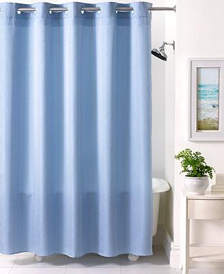 Closeout Martha Stewart Collection Textured Stripe Hookless Shower Curtain Shower Curtains