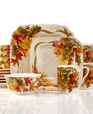 222 Fifth Holiday Autumn Celebration 16 Pc Set Service