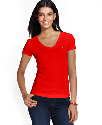 Tommy Hilfiger V Neck T Shirt Only At Macy S Tops