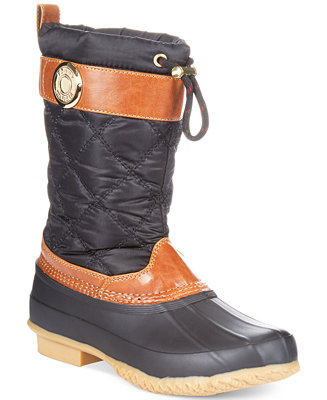 Tommy Hilfiger Women S Arcadia Duck Boots Shoes Macy S