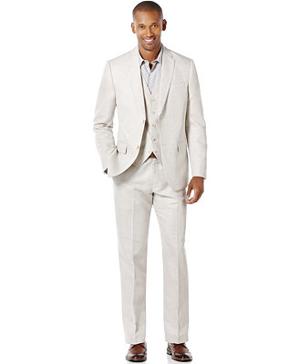 perry ellis s big and linen blend suit separates