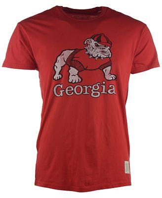 Retro Brand Men 39 S Georgia Bulldogs Super Soft T Shirt