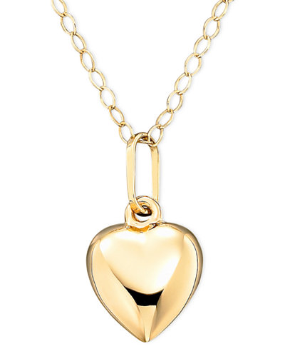 children 39 s 14k gold heart necklace necklaces jewelry