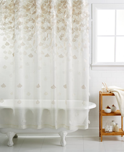 Martha stewart collection falling petals shower curtain bathroom accessories bed bath macy 39 s Martha stewart bathroom collection