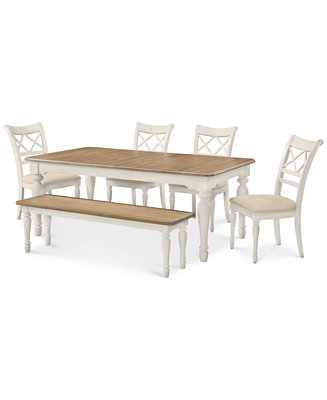 Dining Set Dining Table 4 Chairs And Bench Furniture Macy 39 S