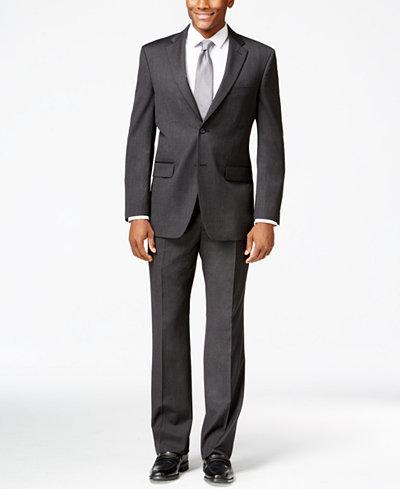 Tommy Hilfiger Charcoal Athletic-Fit Suit