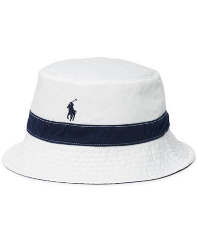 d2ab3869c ... Hat Polo Ralph Lauren Men s Polka-Dot-Print Reversible Bucket ... Polo  Reversible