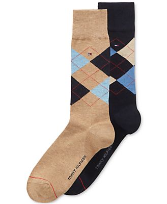 Tommy Hilfiger Argyle Dress Socks, 2 Pack