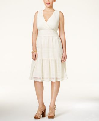 Style & Co. Plus Size Lace A-Line Dress, Only at Macy's
