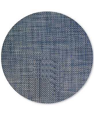Chilewich Basketweave Woven Vinyl Placemat Round Table Linens Dining