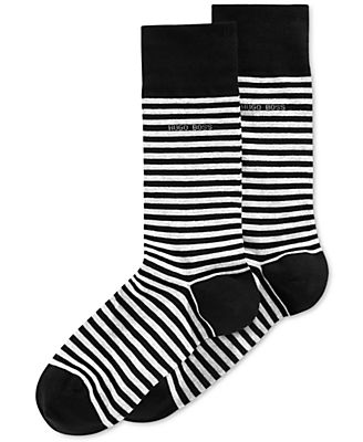 Hugo Boss Men's Striped Dress Socks