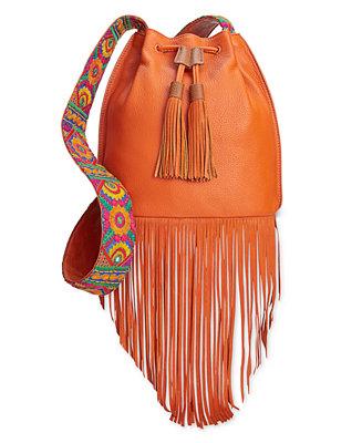 Sam Edelman Cindy Fringe Bucket Bag Handbags