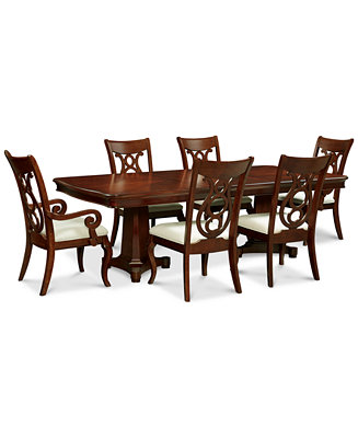 Dining Table 4 Side Chairs And 2 Arm Chairs Furniture Macy 39 S