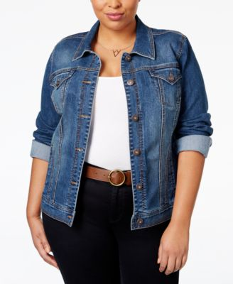 Style & Co. Plus Size Denim Jacket, Only at Macy's