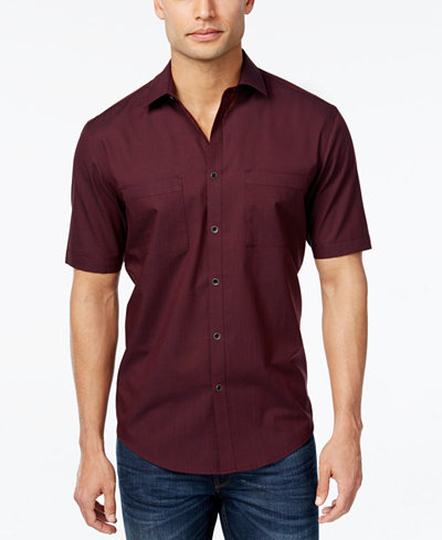 Alfani Men 39 S Short Sleeve Shirt Classic Fit Casual