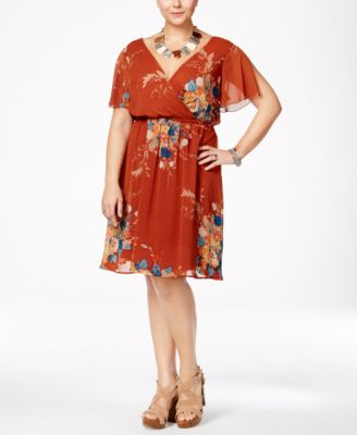 Love Squared Trendy Plus Size Chiffon Fit & Flare Dress