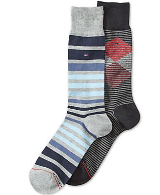 Tommy Hilfiger Men's 2-Pk. Patterned Socks