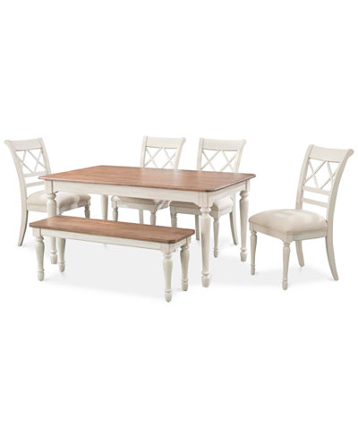 Cape May Dining Set 6 Pc Table 4 Side Chairs Bench Only At Macy