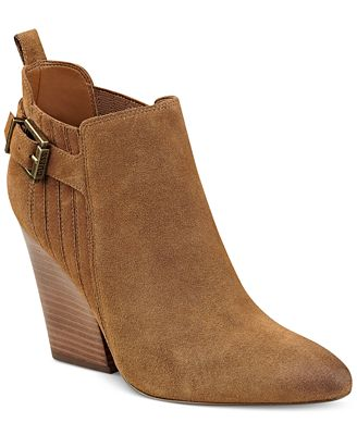 Guess Women S Nicolo Pointed Toe Booties Boots Shoes