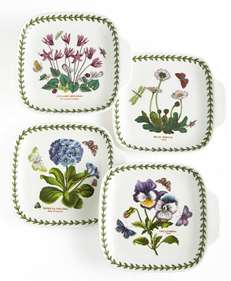 Portmeirion dinnerware set of 4 botanic garden canape for Portmeirion dinnerware set of 4 botanic garden canape plates