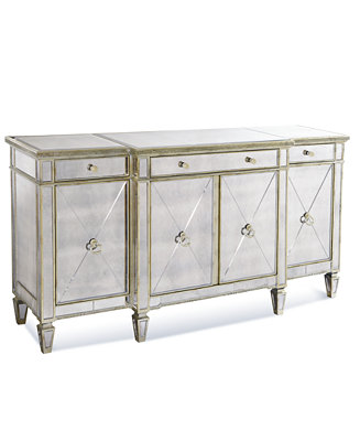 Marais Credenza Mirrored Sideboard Furniture Macy S