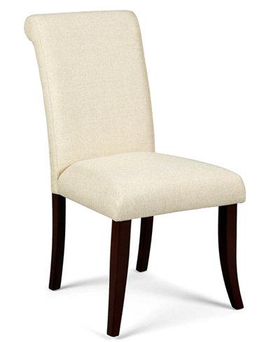 Bradford Scroll Back Upholstered Side Chair Furniture