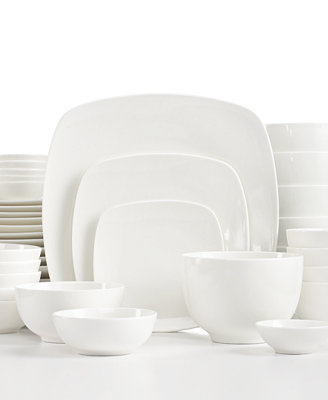 White Elements Hampton Square 42 Piece Set Service For 6