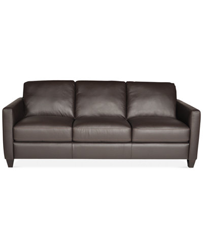 Emilia Leather Sofa Only At Macy S Furniture Macy S