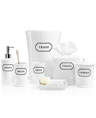 Closeout Martha Stewart Collection Porcelain Words Frame Bath Accessories Collection Only At