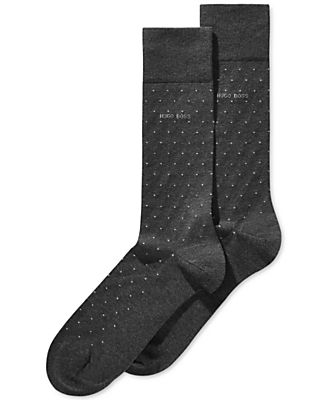Dotted Mercerized Socks