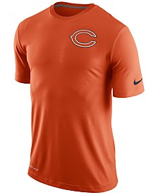 Men's Chicago Bears #6 Jay Cutler Elite Orange C Patch Jersey