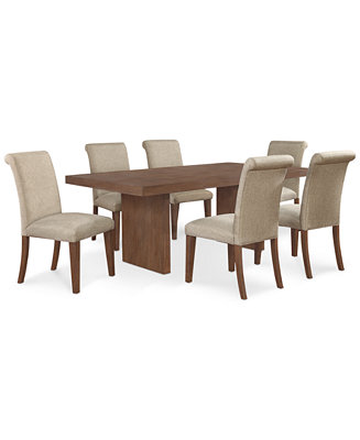 Madina 7 Pc Dining Set Dining Table And 6 Chairs Furniture Macy 39 S