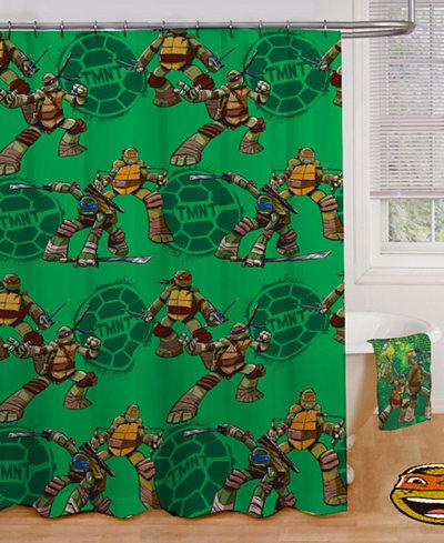 Teenage Mutant Ninja Turtle Shower Curtain Bathroom Accessories Bed