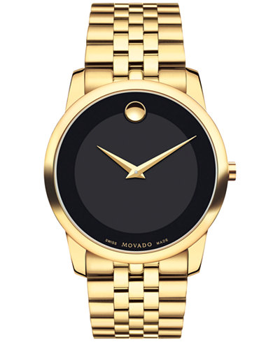 Movado Men S Swiss Museum Classic Gold Pvd Stainless Steel
