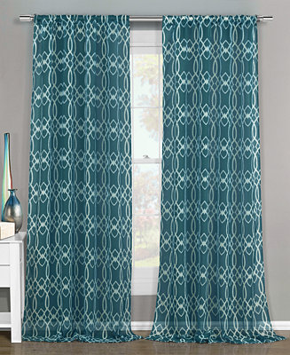 Duck River Textile Newbella 51 X 84 Semi Sheer Pair Of Panels Sheer Curtains Macy 39 S