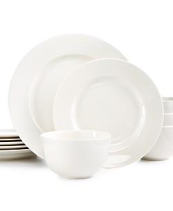 Martha Stewart Collection 12-Piece Kensington Round Dinnerware Set