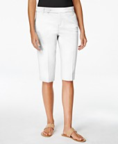 Style & Co. Twill Bermuda Shorts, Only at Macy's